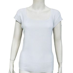 NINE & CO   Women's Ribbed Scoop Neck Tee Size XL
